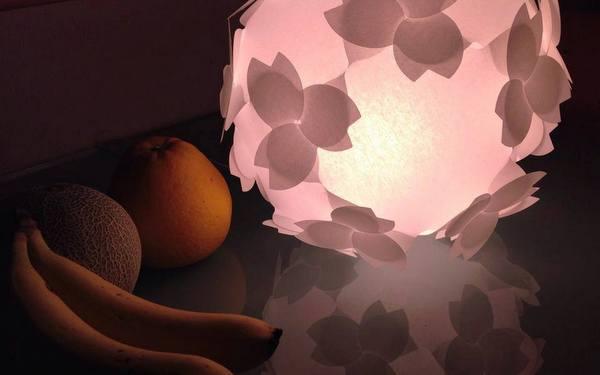 桜色 照明